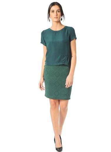 Vero Moda Vero Moda 10142204 Baskılı Etek Yeşil